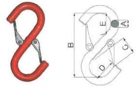 S-образный крюк с предохранителями