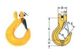 Крюк вилочного соединения с предохранителем