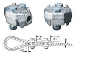 Усиленный двойной зажим IRONGRIP для стальных канатов