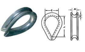 Коуши для стальных канатов, стандарта EN13411-1