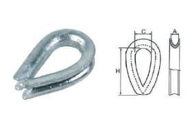 Коуши для стальных канатов, тип DIN 3090