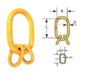 Подъемные звенья для 3- и 4-ветвевых цепных строп DIN5688 8 клас